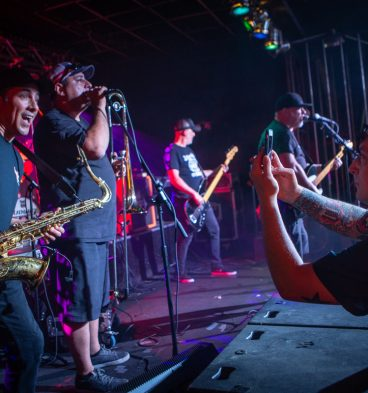 Legendary ska masters The Toasters at the Hoods Car Club Riot.